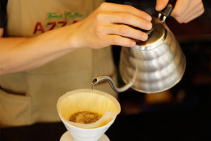 azzan pour over drip coffee