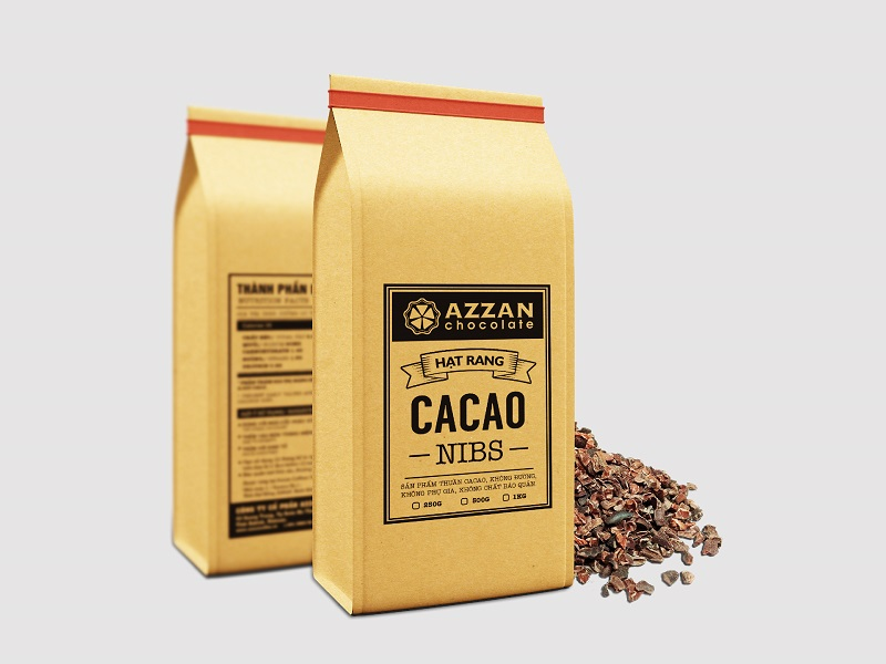 cacao nibs - hạt cacao rang vỡ nguyên chất